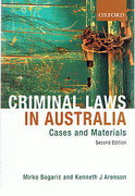 Cover of Criminal Laws in Australia: Cases and Materials