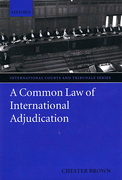 Cover of A Common Law of International Adjudication