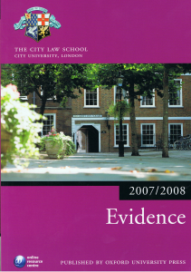 Character Evidence Civil Trials | RM.