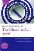 Cover of Blackstone's Guide to the Charities Act 2006