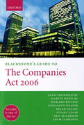 Cover of Blackstone's Guide to the Companies Act 2006