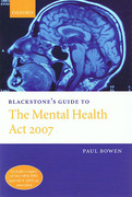 Cover of Blackstone's Guide to the Mental Health Act 2007