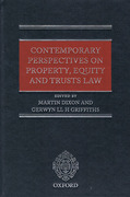 Cover of Contemporary Perspectives on Property, Equity and Trust Law