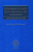Cover of European Company and Financial Law: Texts and Leading Cases