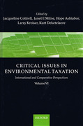 Cover of Critical Issues in Environmental Taxation: International and Comparative Perspectives Volume IV