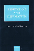 Cover of Reputation and Defamation