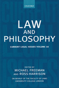 Cover of Current Legal Issues Volume 10: Law and Philosophy