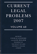 Cover of Current Legal Problems 2007: Volume 60