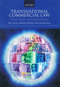 Cover of Transnational Commercial Law: Text, Cases and Materials