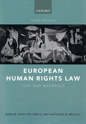 Cover of European Human Rights Law: Text and Materials