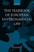 Cover of Yearbook of European Environmental Law: V. 5
