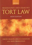 Cover of Markesinis and Deakin's Tort Law