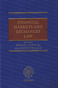 Cover of Financial Markets and Exchanges Law