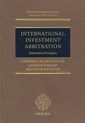 Cover of International Investment Arbitration : Substantive Principles
