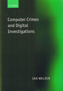 Cover of Computer Crimes and Digital Investigations