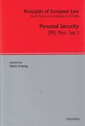 Cover of Principles of European Law Volume 4: Personal Security Contracts