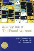 Cover of Blackstone's Guide to the Fraud Act 2006