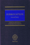 Cover of Subrogation: Law and Practice