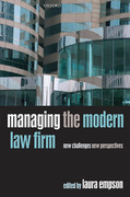 Cover of Managing the Modern Law Firm: New Challenges, New Perspectives