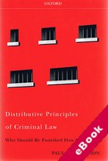 Cover of Distributive Principles of Criminal Law: Who Should be Punished How Much? (eBook)