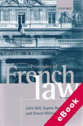 Cover of Principles of French Law (eBook)