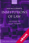 Cover of Institutions of Law: An Essay in Legal Theory (eBook)