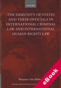 Cover of The Immunities of States and their Officials in International Criminal Law and International Human Rights Law (eBook)