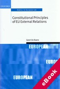 Cover of Constitutional Principles of EU External Relations (eBook)