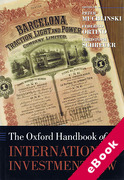 Cover of The Oxford Handbook of International Investment Law (eBook)