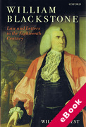 Cover of William Blackstone: Law and Letters in the Eighteenth Century (eBook)