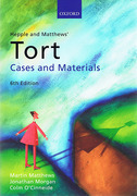 Cover of Hepple and Matthews: Tort Cases & Materials