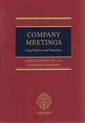 Cover of Company Meetings: Law, Practice and Procedure