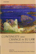 Cover of Continuity and Change in EU Law: Essays in Honour of Sir Francis Jacobs