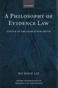 Cover of A Philosophy of Evidence Law: Justice in the Search for Truth