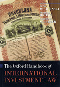 Cover of The Oxford Handbook of International Investment Law