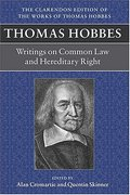 Cover of Thomas Hobbes: Writing on Common Law and Hereditary Right