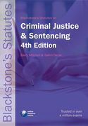 Cover of Blackstone's Statutes on Criminal Justice and Sentencing