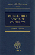 Cover of Cross-Border Consumer Contracts