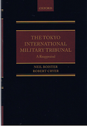 Cover of The Tokyo International Military Tribunal - A Reappraisal