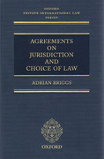 Cover of Agreements on Jurisdiction and Choice of Law