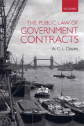 Cover of The Public Law of Government Contracts