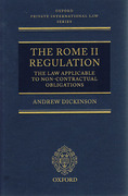 Cover of The Rome II Regulation: The Law Applicable to Non-Contractual Obligations