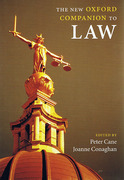 Cover of The New Oxford Companion to Law