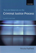 Cover of Text and Materials on the Criminal Justice Process