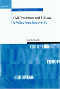 Cover of Civil Procedure and EU Law: A Policy Area Uncovered