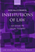 Cover of Institutions of Law: An Essay in Legal Theory