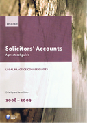 Cover of LPC: Solicitors' Accounts: A Practical Guide 2008 - 2009