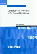 Cover of Constitutional Principles of EU External Relations