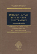 Cover of International Investment Arbitration: Substantive Principles