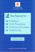 Cover of Bar Manual: Test Yourself in Evidence, Civil Procedure, Criminal Procedure and Sentencing